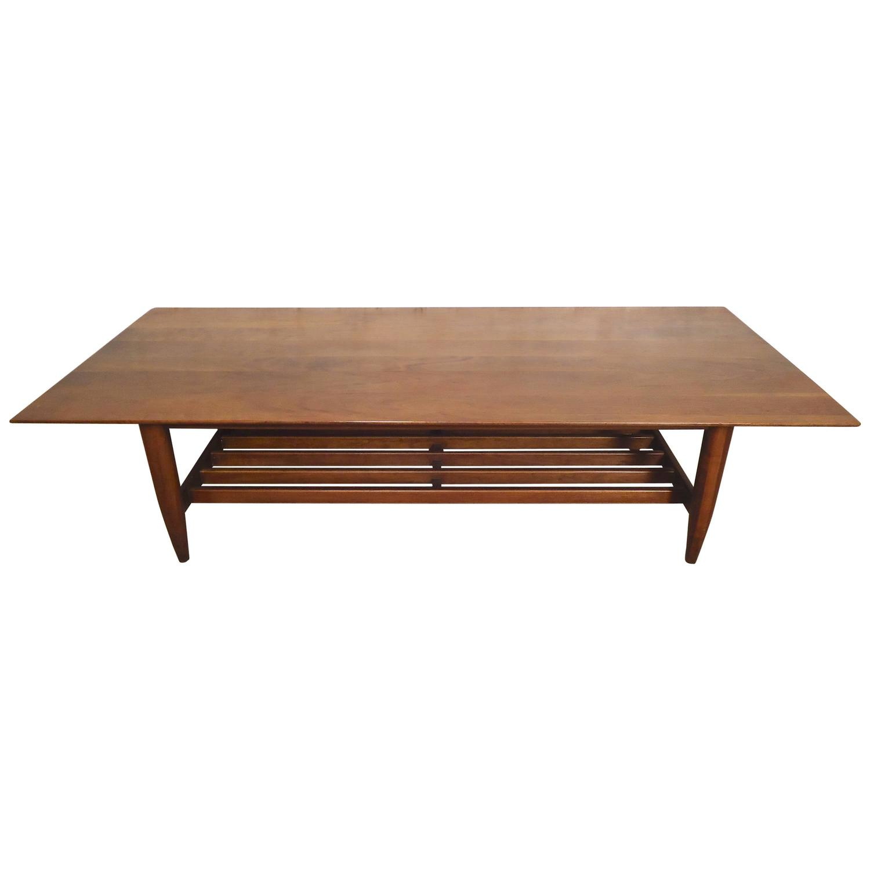 Midcentury Walnut Coffee Table At 1stdibs