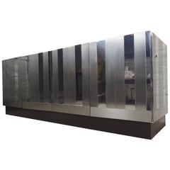 Paul Evans Style Chrome-Plated Dresser