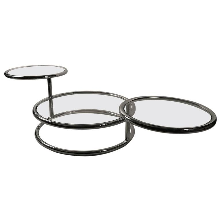 Chrome Mechanical Disk Table For Sale