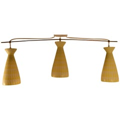 Modernist Three-Light Fixture