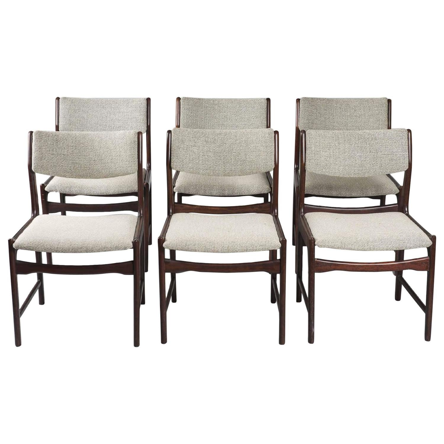 Six Dining Rosewood Chairs For Tecno At 1stdibs