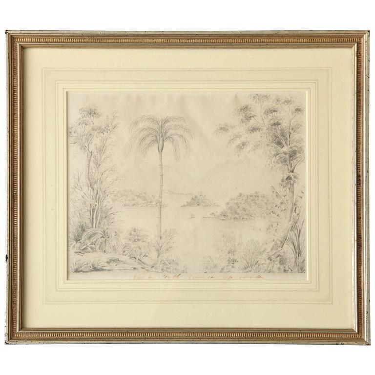 """View in South America"" Pencil Drawing by James Robertson For Sale"