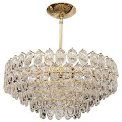 "Tiered Glass ""Lens"" Element Chandelier"