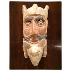 Hand-Carved Folk Art Mask