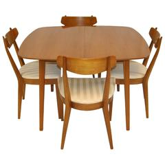 Mid-Century Modern Dining Set by Kipp Stewart For Drexel, Sun Coast Collection