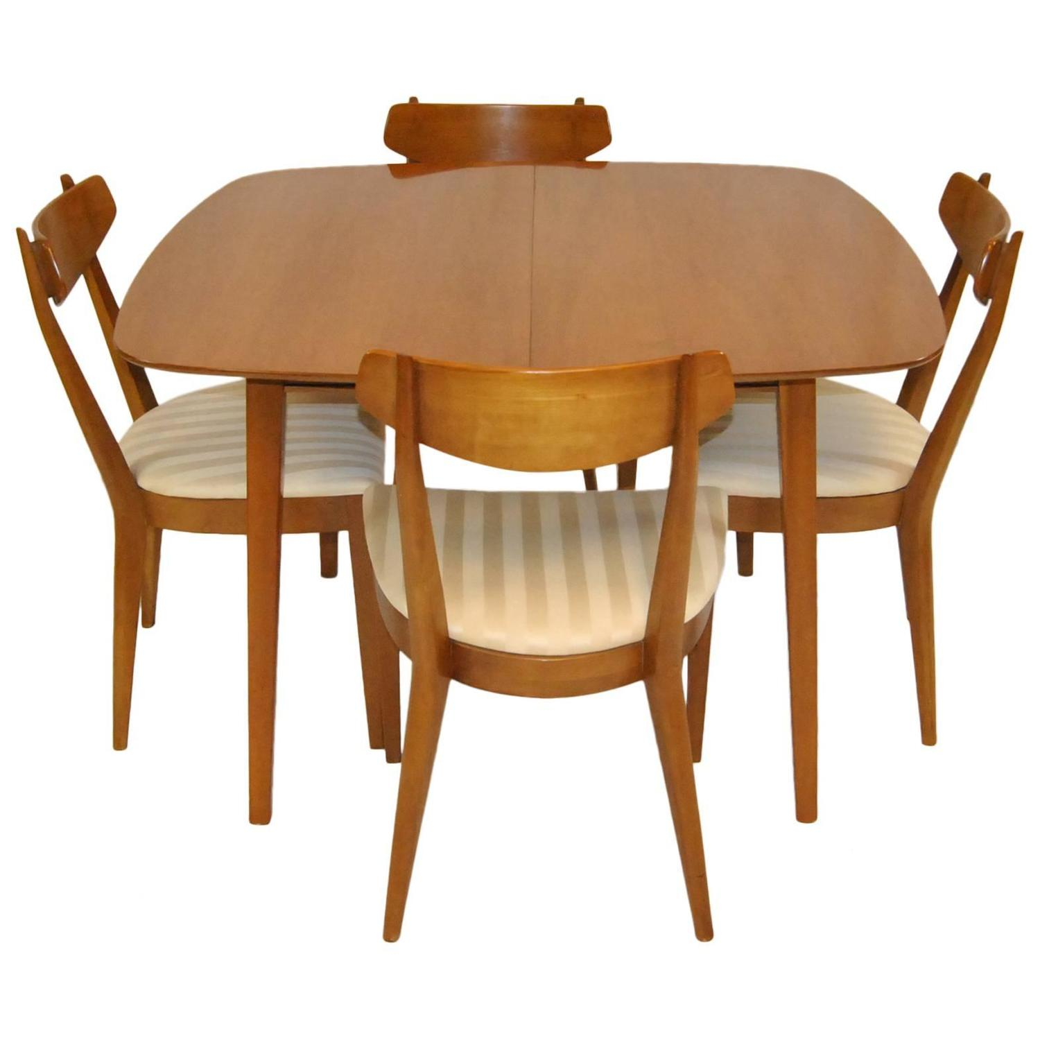 Mid century modern dining set by kipp stewart for drexel for Modern dining room table sets