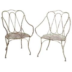 Pair of Late 19th Century French Garden Armchairs