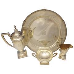 Etruscan by Gorham Sterling Silver Demitasse Tea Set Four-Pieces