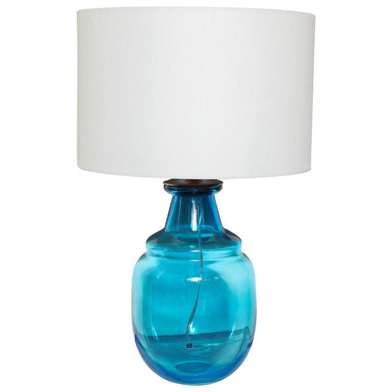 cool aqua murano table lamp for sale at 1stdibs. Black Bedroom Furniture Sets. Home Design Ideas