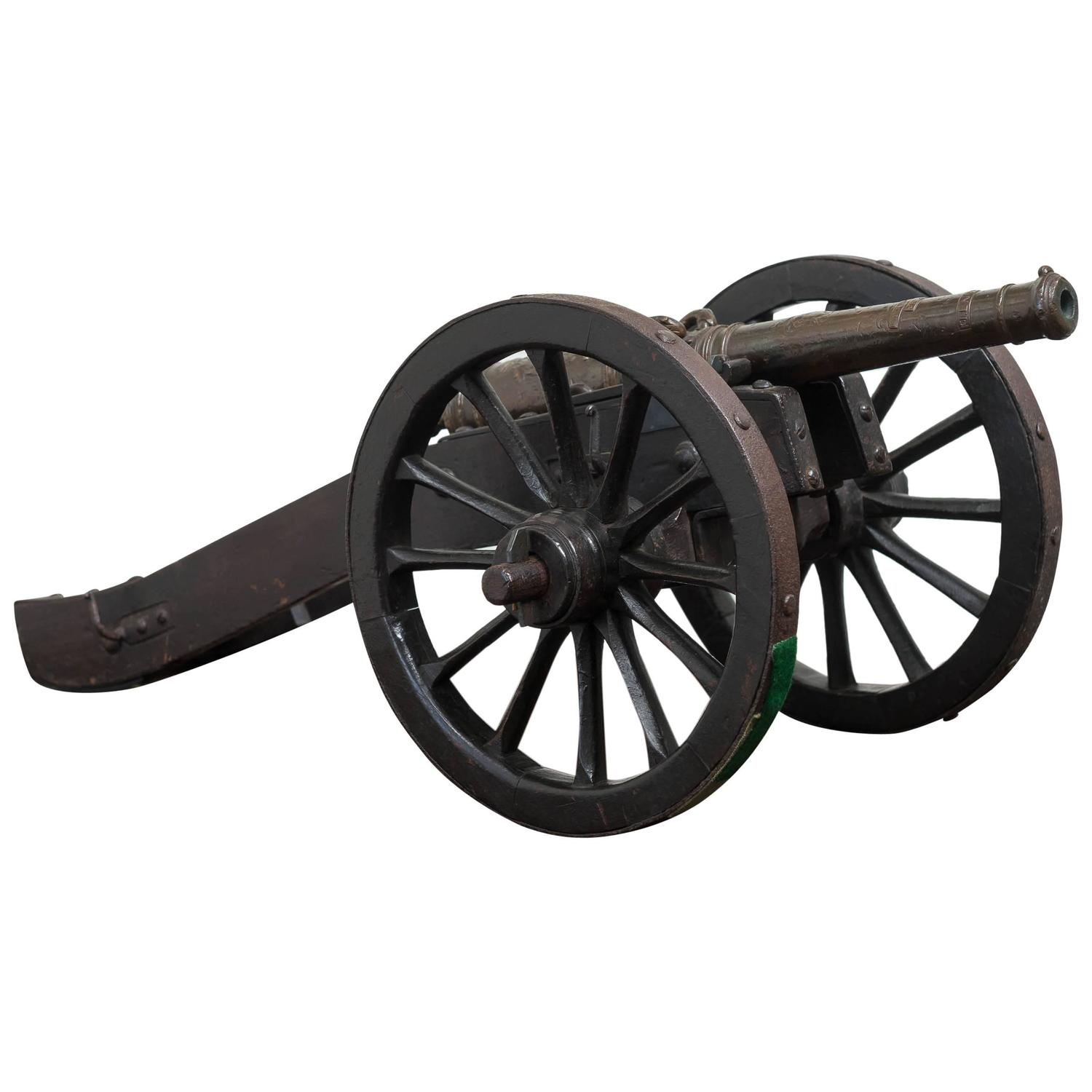 19th Century Model Of 18th Century Style Cannon At 1stdibs