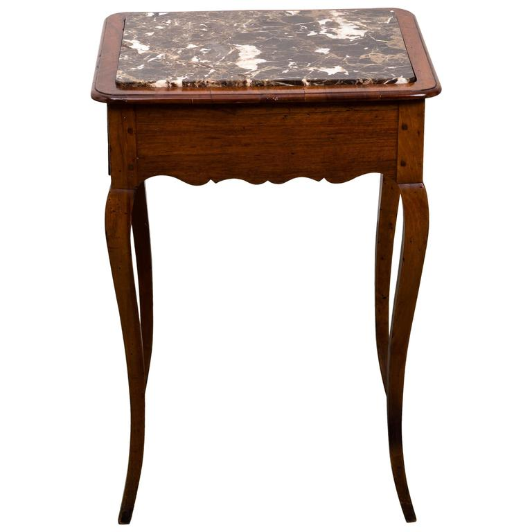 19th Century French Fruitwood Side Table