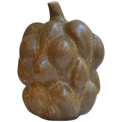 Axel Salto Rare Fruit Form with Stem in Solfatara Glaze