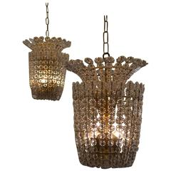 Pair of Pendant Chandeliers by Estrid Ericson, Sweden, circa 1950