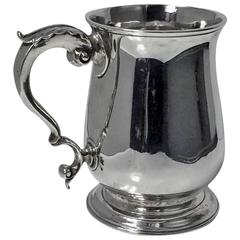 Large Georgian Silver Mug Tankard, London, 1771