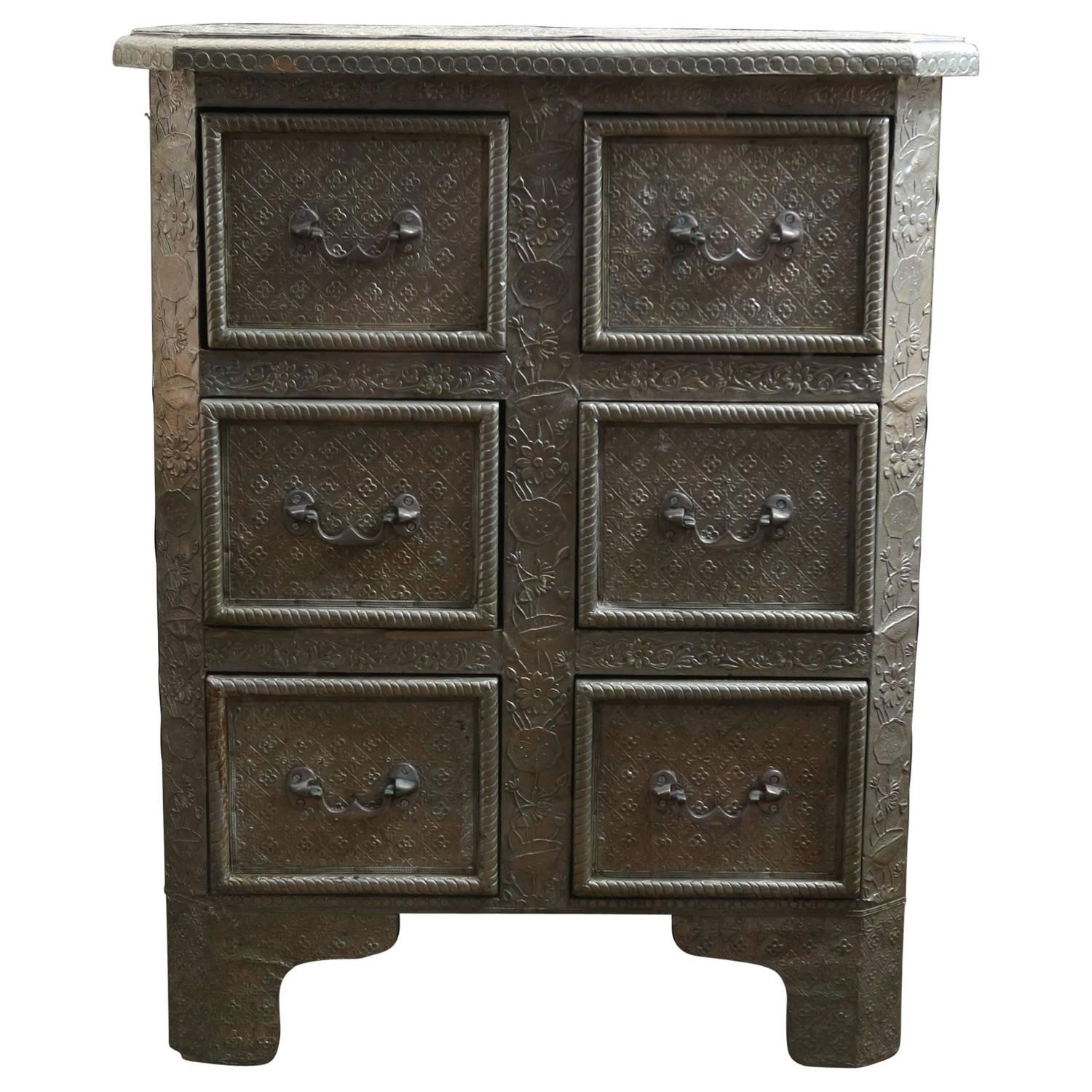 Victorian Pressed Tin Cabinet At 1stdibs