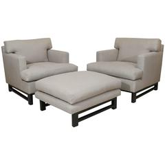Lounge Chairs and Ottoman by Edward Wormley for Dunbar