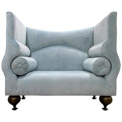 Whimsical Tall-Back Settee