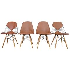 Set of Four Early Charles Eames Dowel Leg Chairs