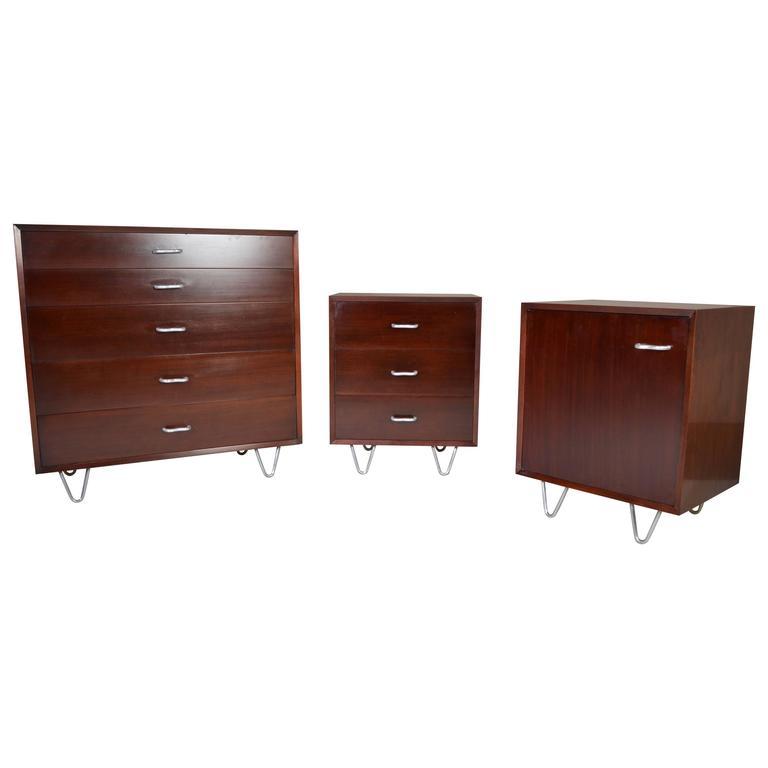MidCentury George Nelson For Herman Miller Bedroom Dresser Set At - Herman miller bedroom furniture