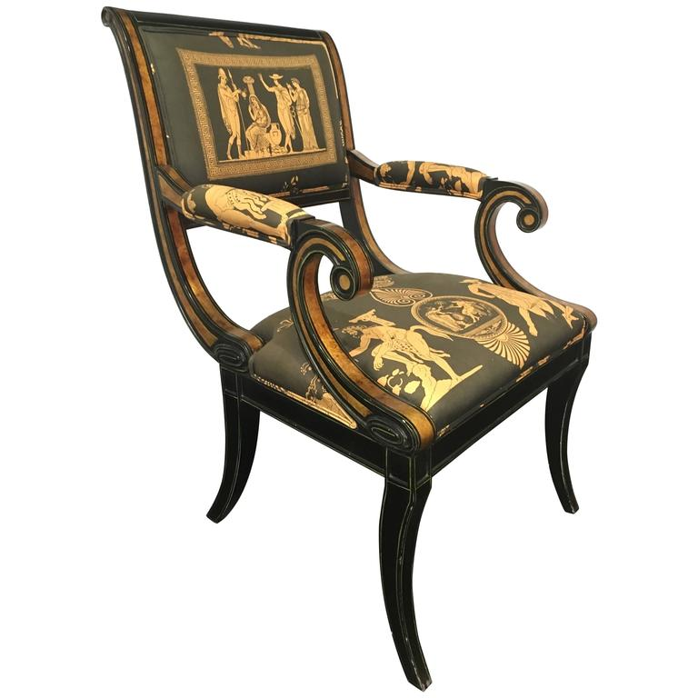 Regency Style Armchair At 1stdibs