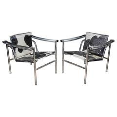 Le Corbusier LC1 pair of armchairs