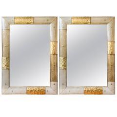 Pair of Murano glass mirrors