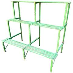 Three-Tiered French Wrought Iron Plant Stand, circa 1900