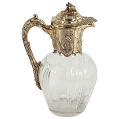 Silver Gilt Victorian Claret Jug