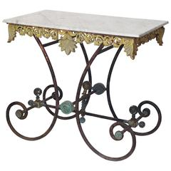 Late 19th Century French Pastry Table