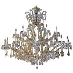Twenty-Four Light Maria Theresa Crystal Chandelier