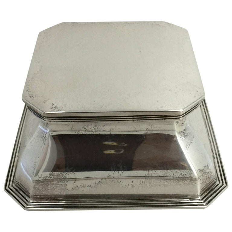 English Silver Inkwell, Stamped Goldsmiths and Silversmiths Company For Sale