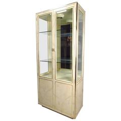Pair Of Mid Century Modern Tall Display Cabinets For John