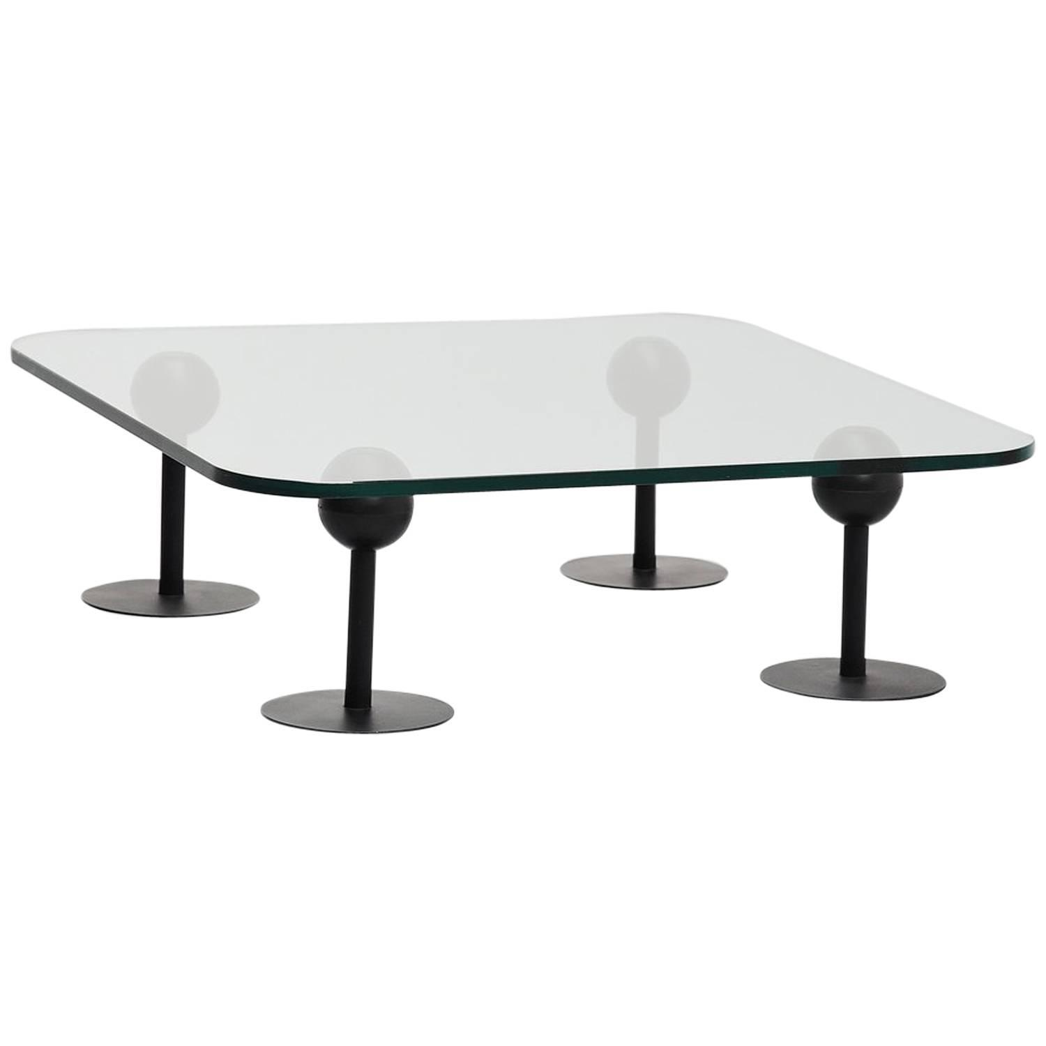 Philippe starck coffee table for les trois suisses france for Philippe starck glass table