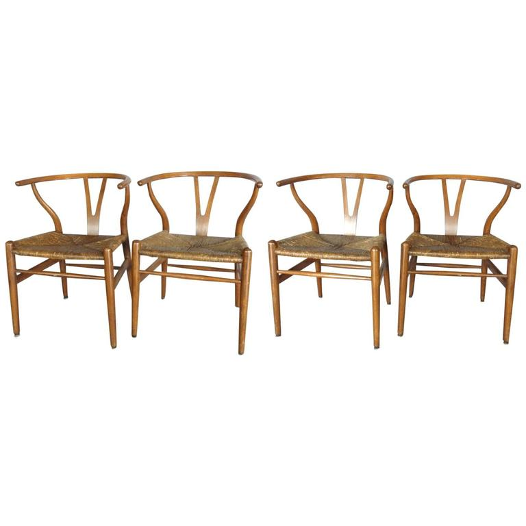 set of four hans wegner dining chairs at 1stdibs