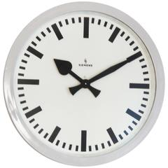 Large Siemens Industrial or Station Clock