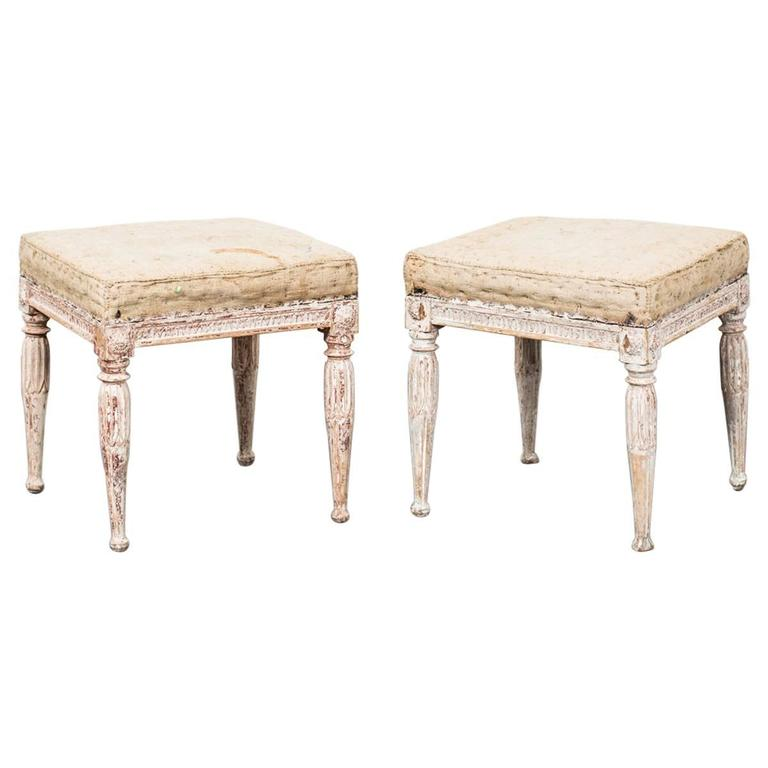 Pair of Stools Gustavian Period, Sweden
