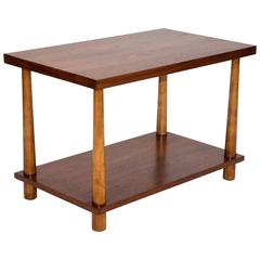 Midcentury Walnut Lamp or End Table, T. H. Robsjohn-Gibbings for Widdicomb