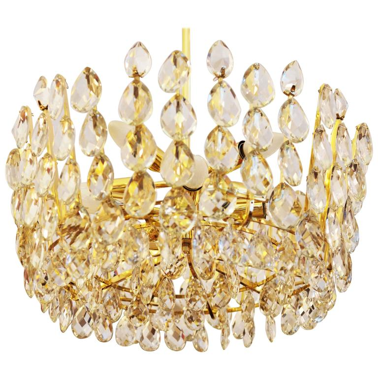 Beautiful Cut Crystal Chandelier by Bakalowits & Söhne