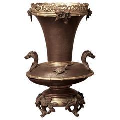 19th Century French Chinoiserie Napoleon III Bronze Vase