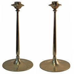 1950s Bradley and Hubbard Brass Candle Holders