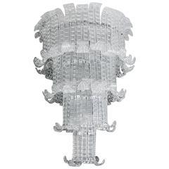 Nice Fall Shaped Chandelier in Murano Glass