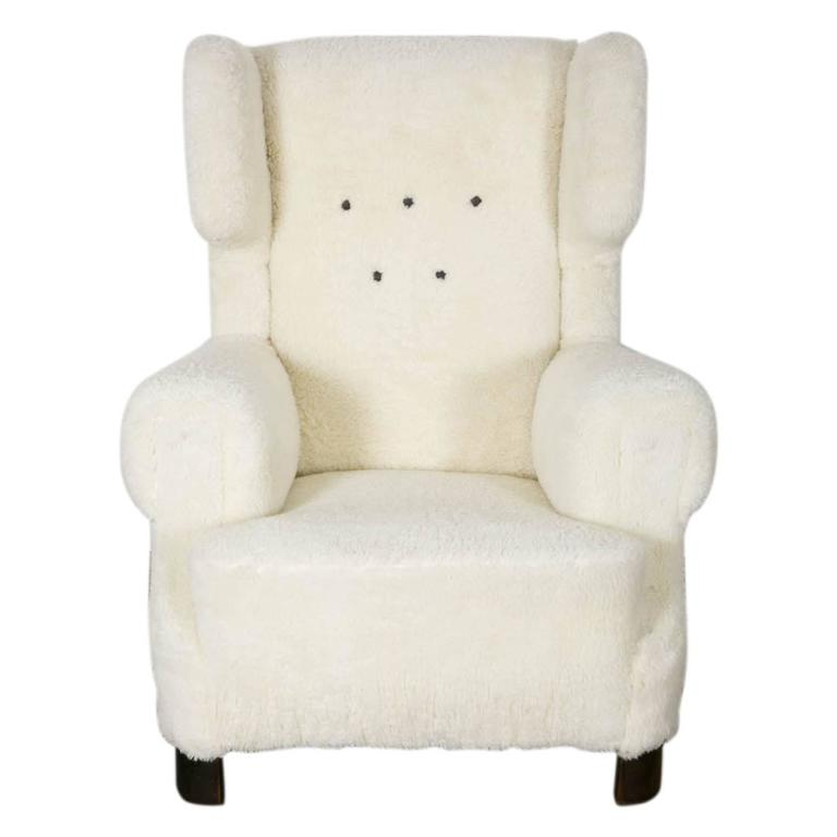 Wingback Lounge Chair at 1stdibs