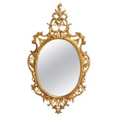 Oval Mirror in the manner of Thomas Chippendale