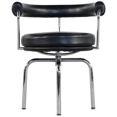 Le Corbusier Charlotte Perriand P. Jeanneret LC4 Swivel Chair by Cassina Leather