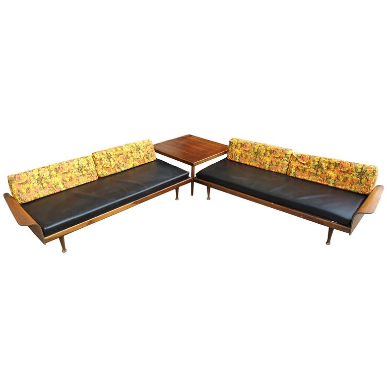 Fantastic Midcentury Sectional Sofa by Frank & Son For Sale