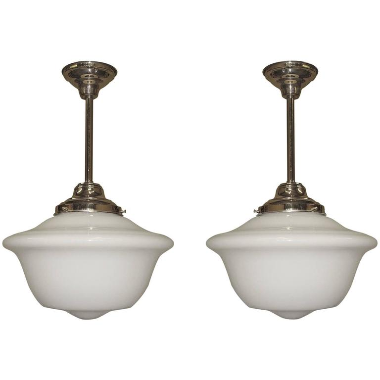 Extra Large 1920s School House Lights 3 Available At 1stdibs