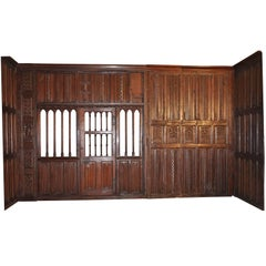Rare Tudor Oak Paneled Room