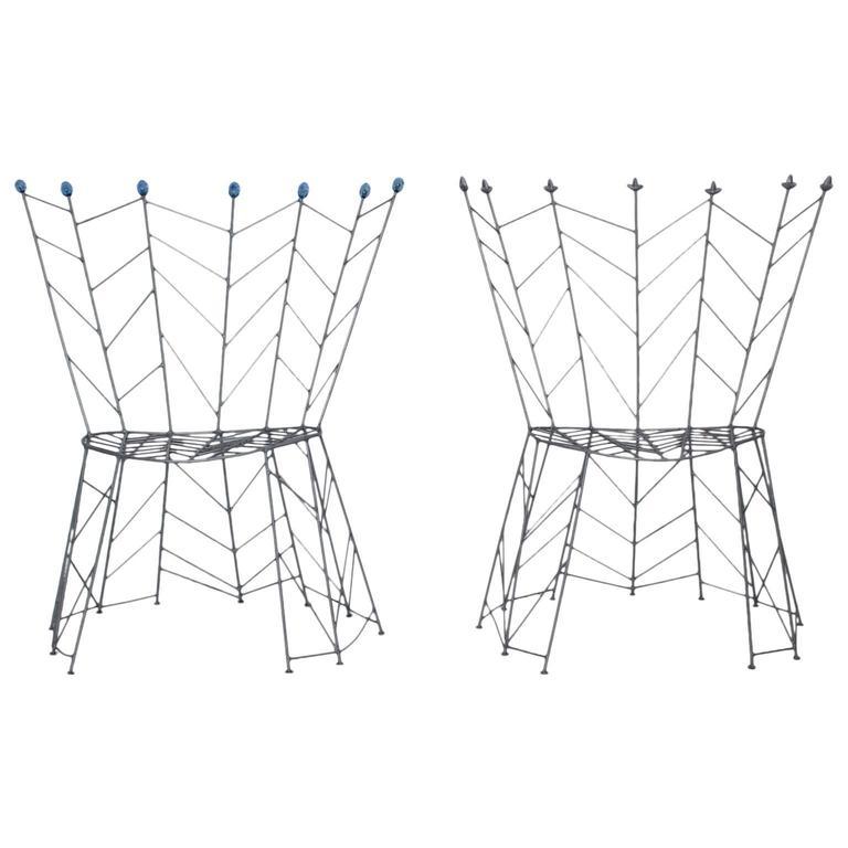 Metal Chairs Pupeny by Bohuslav Horak 1988 Czech Republic