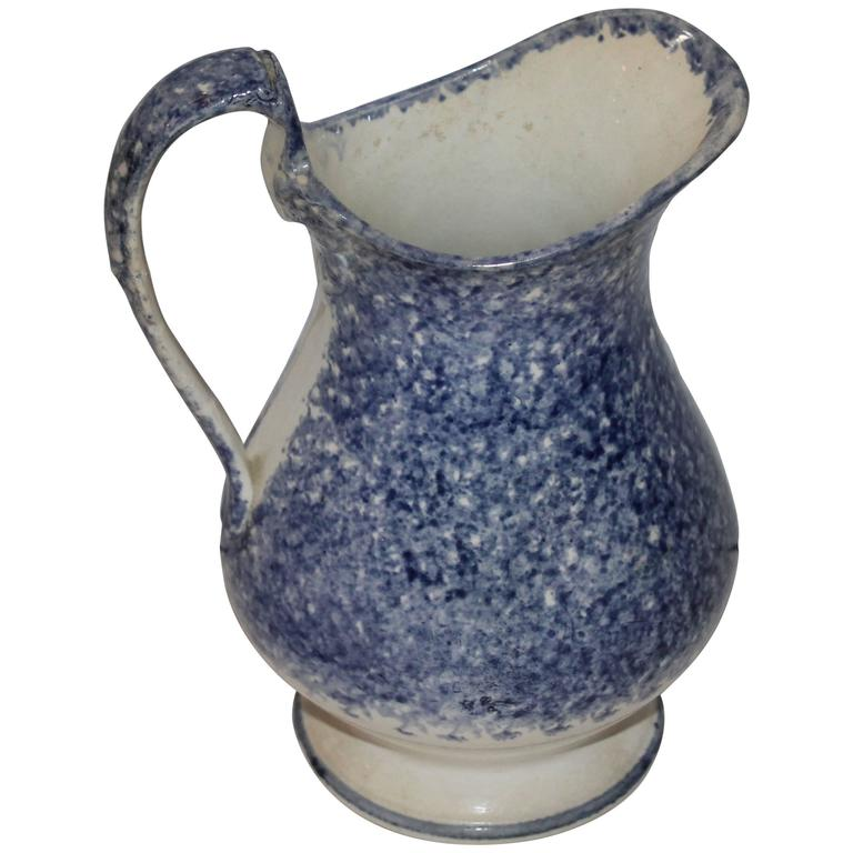 Early 19th Century Spatter Ware Water Pitcher