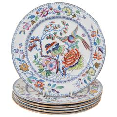 "Set of 14 Mason's Ironstone Dinner Dishes in the ""Flying Bird"" Pattern"